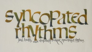 The artistry of nancy anderson calligraphy for Terrace in a sentence